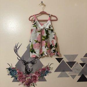 Pink Lemon Bow Dress sz 6-9m